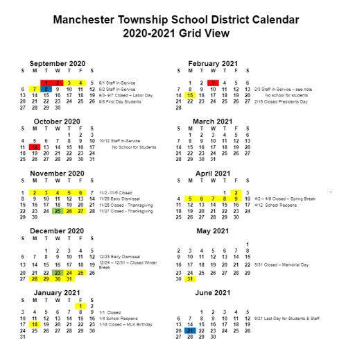 2020 2021 School Calendar Approved | Posts Open   Manchester
