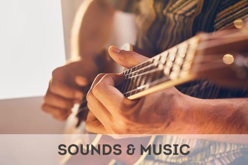 Click here to access calming sounds and music.