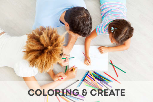 Click here to access coloring and creativity activities.