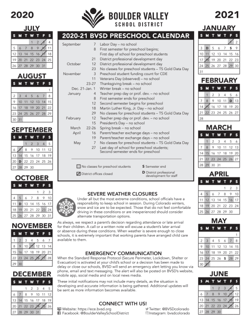 Cu Boulder Spring 2022 Calendar.Calendar Mapleton Early Childhood Center