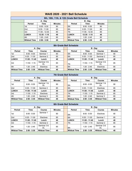 Sbisd Calendar 2021 2020 21 Schedules   Westchester Academy for International Studies