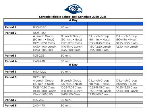 Gisd Calendar 2021 Schedules: Schrade Middle School   Garland ISD
