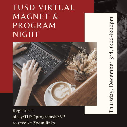 Tusd 2022 23 Calendar.Tusd Virtual Magnent Program Night Tustin Unified School District