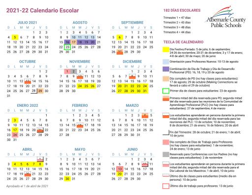 Mcps 2022 23 Calendar.Calendars Albemarle County School District