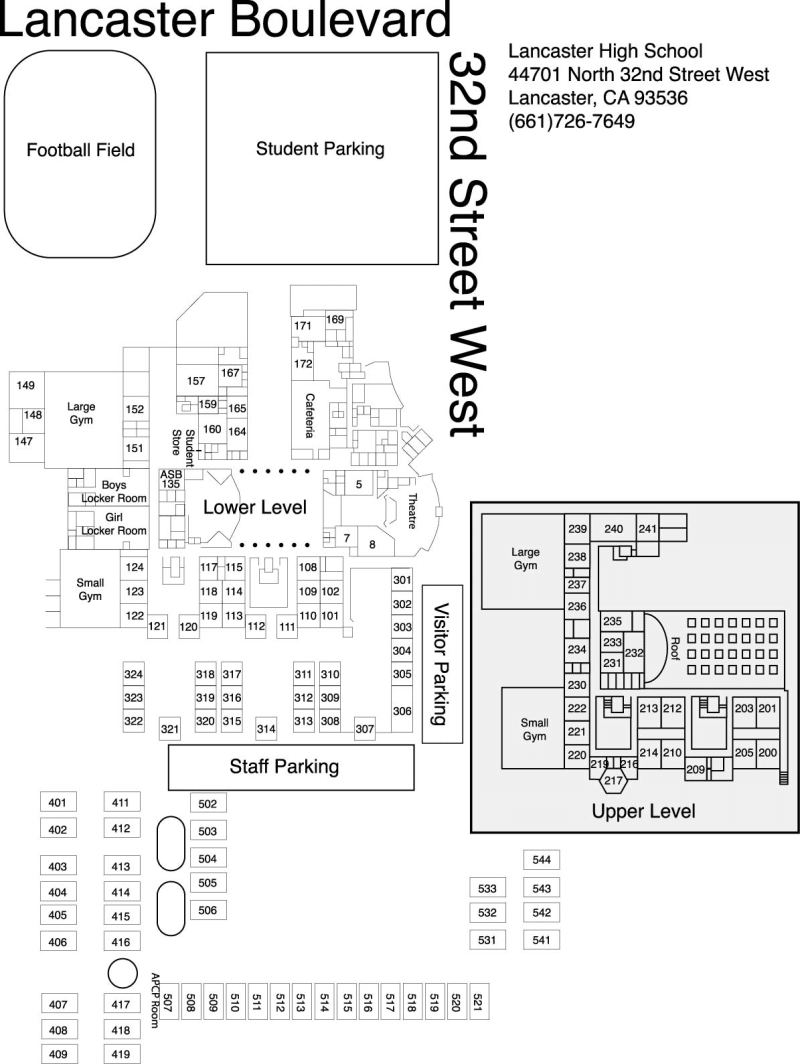 School Campus Map.Campus Map Lancaster High School