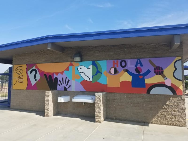 Completed art mural