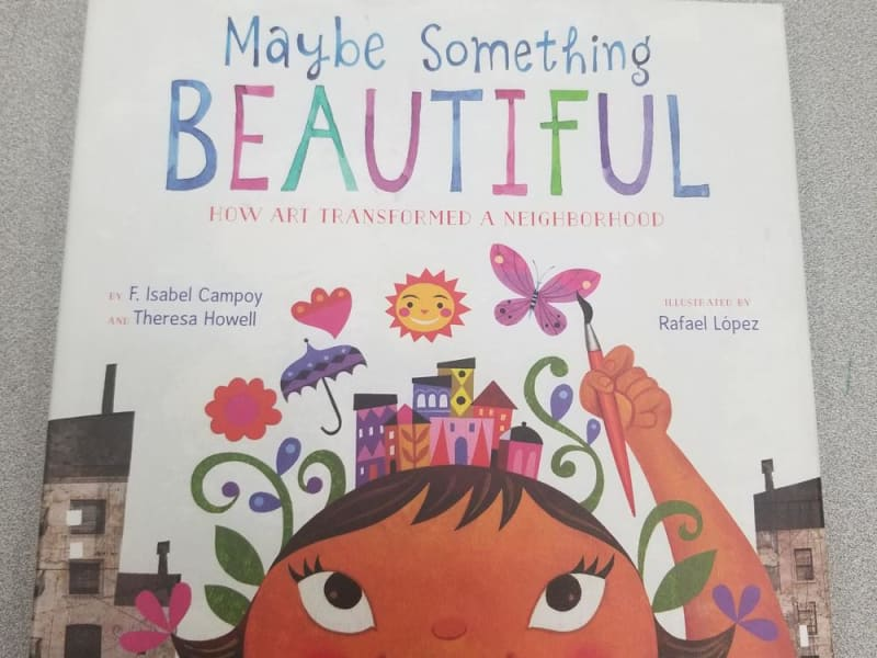 Book cover-Maybe Something Beautiful