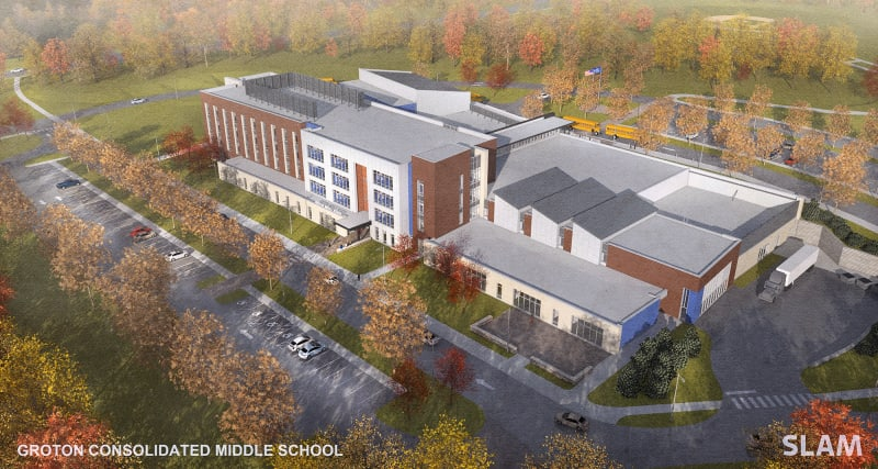 New Middle School Aerial South West Corner