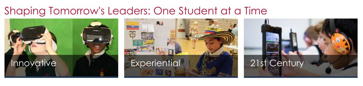 """Gwynedd-Mercy Academy Elementary """"Shaping Tomorrow's Leaders"""" banner"""