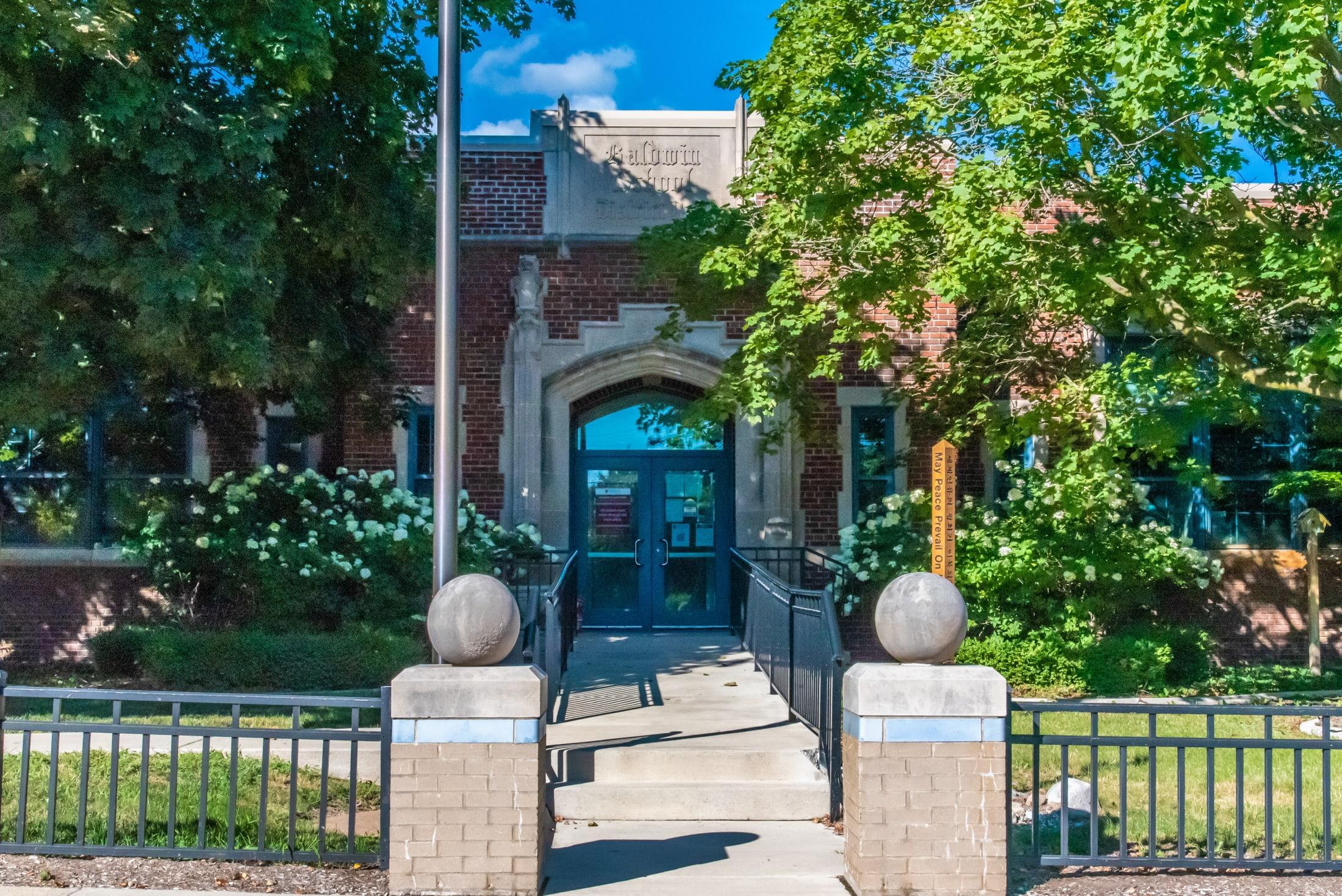 Baldwin Elementary Front Entrance