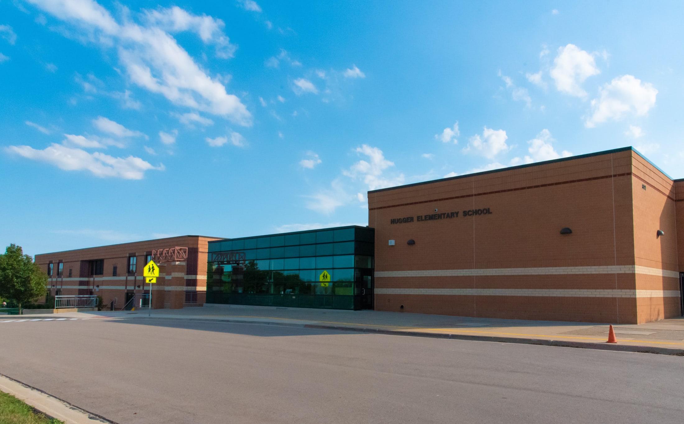 Hugger Elementary Front Entrance