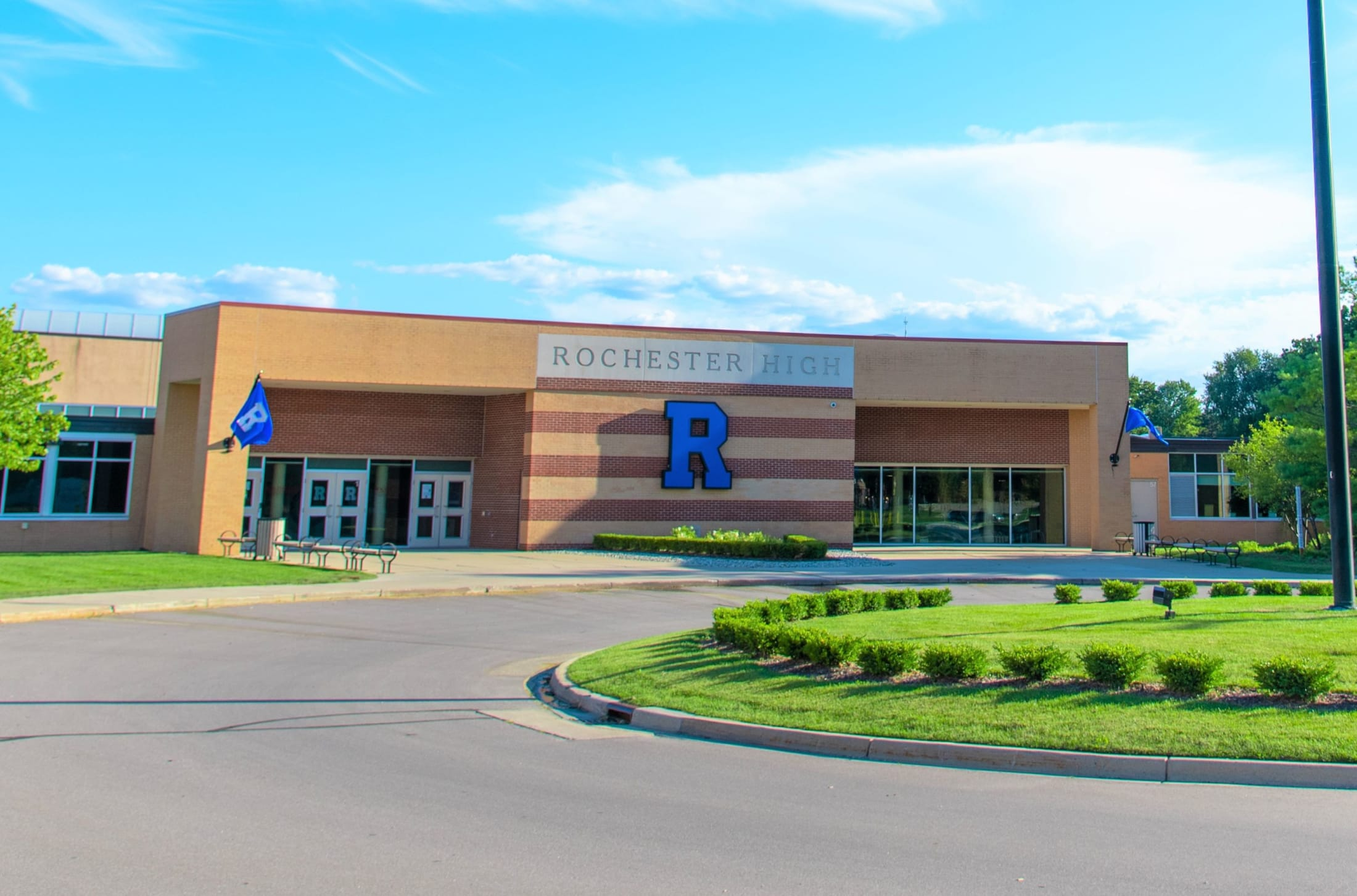 Rochester High School Front Entrance