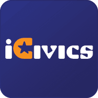 Logo and link to the iCivics website