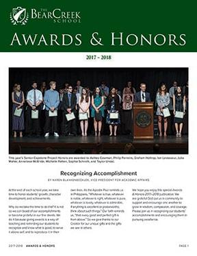 Awards & Honors 2017-2018