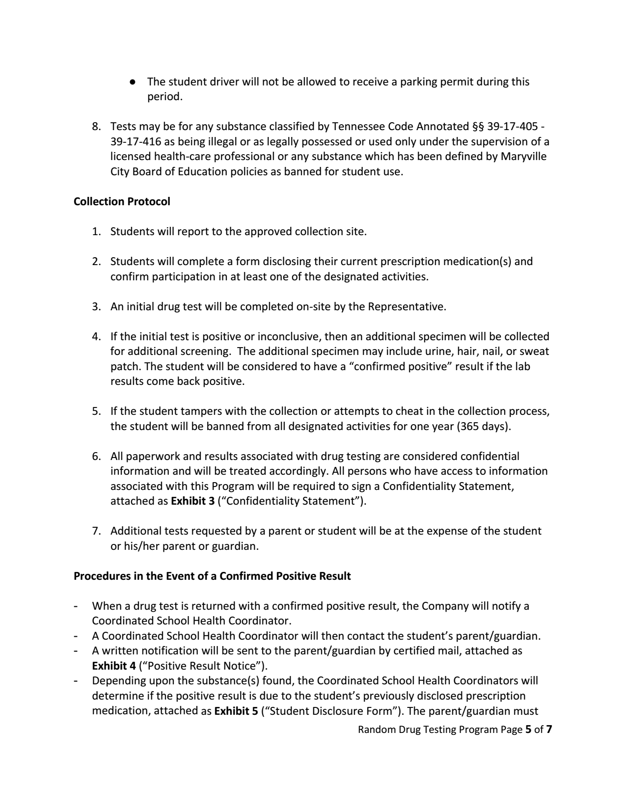 Random Drug Test Consent Form