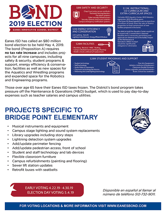 BPE Bond Projects