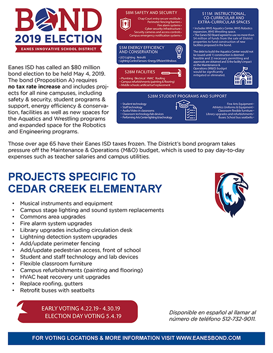 CCE Bond Projects