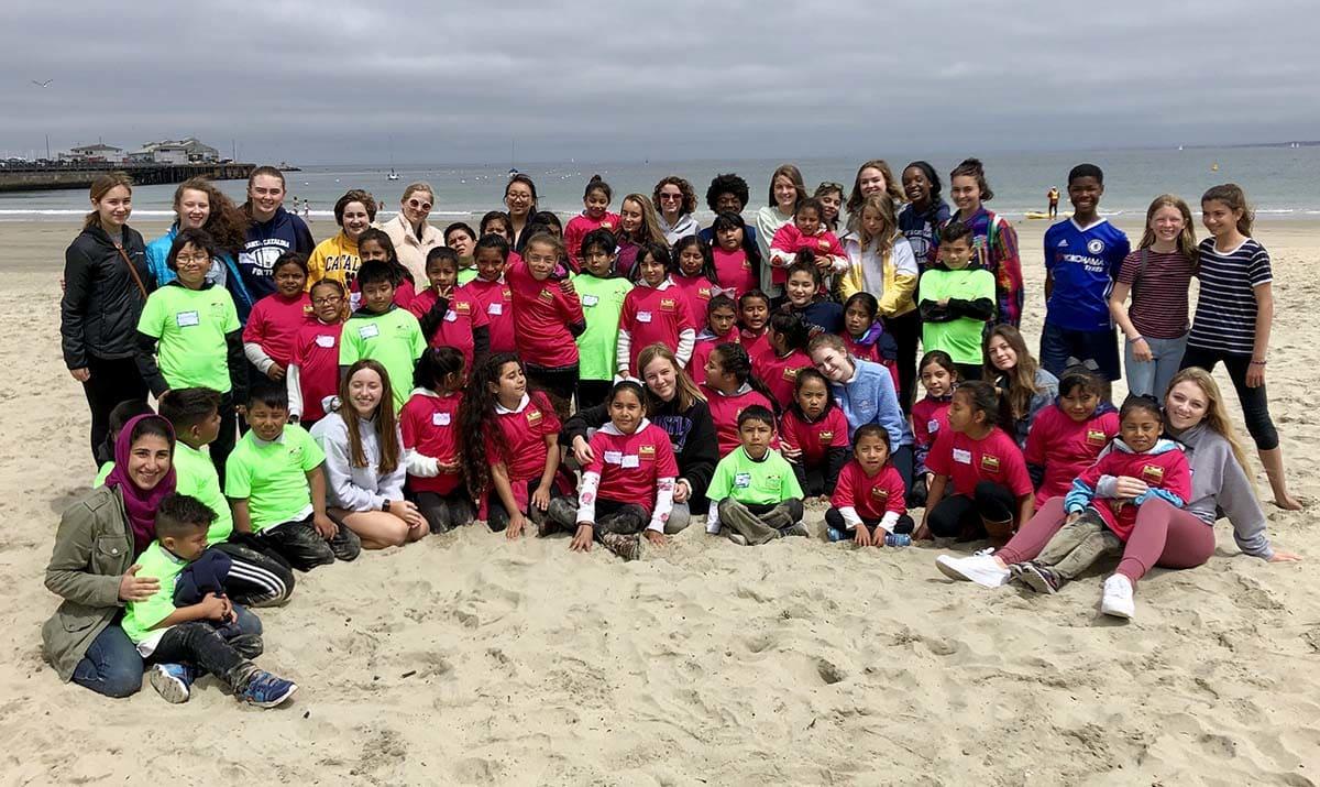 Group photo on the beach