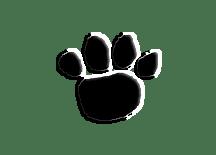 Hershey paw print