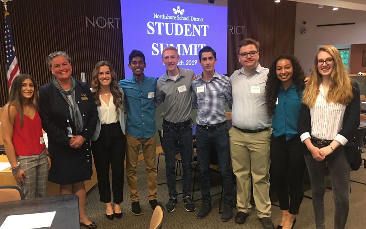 Dr. Reid with Student Board Members