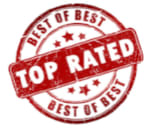 Best of Best, Top Rated Circle Stamp