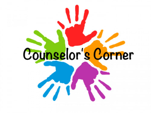 multi-colored hands and Counselor's Corner