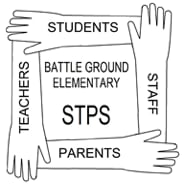 STPS logo with hands in a square