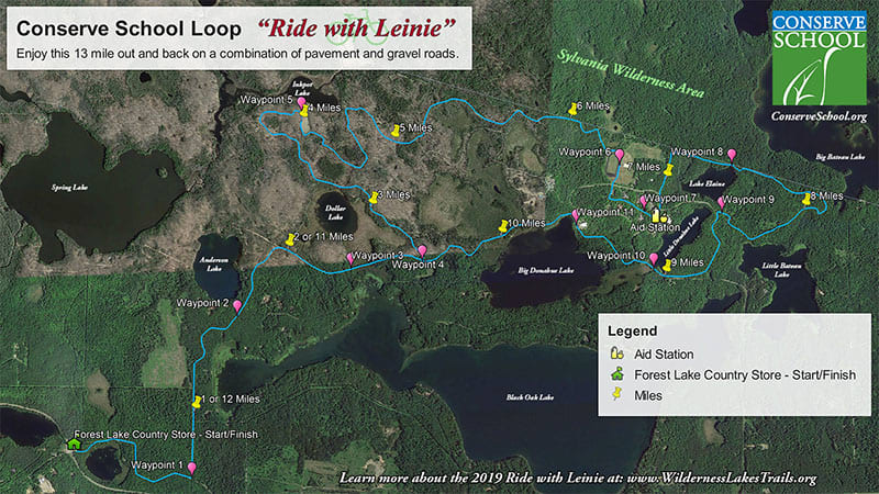 Ride with Leinie Trail Map