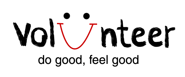 Image saying Volunteer with the U a happy face with ''do goo, feel good' written beneath