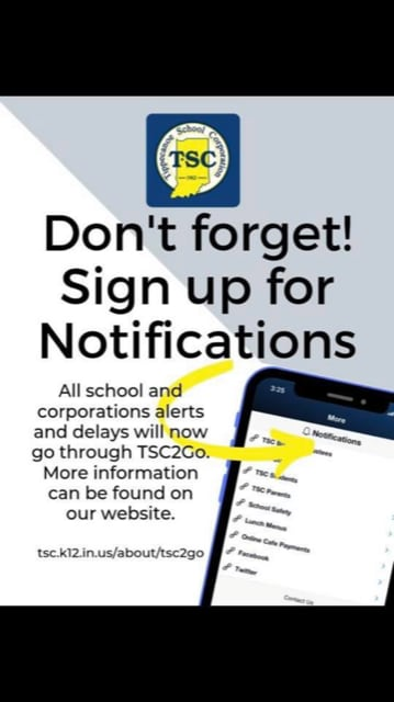 TSC Notifications Sign Up Logo
