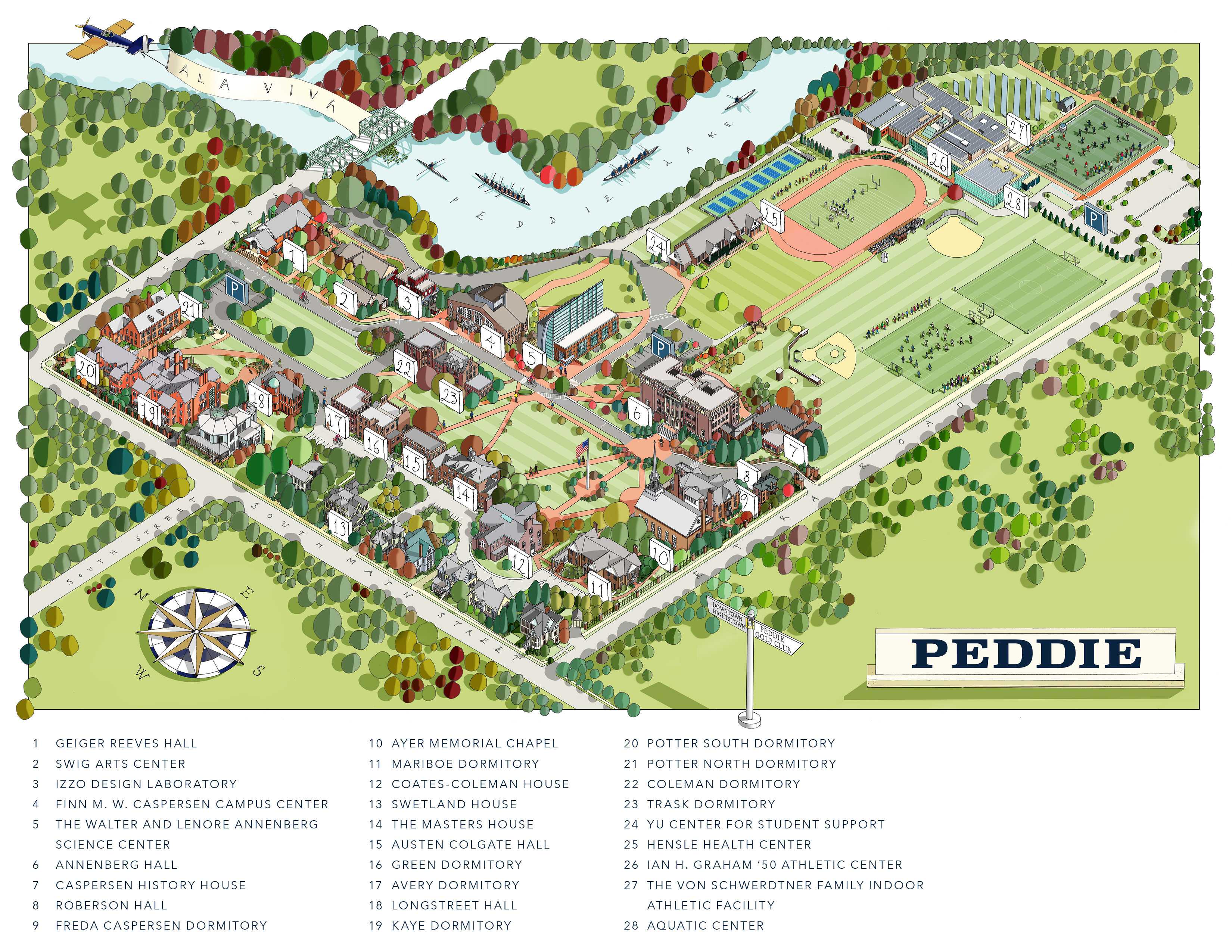 Directions & Campus Map - Peddie School | Private Boarding & Day