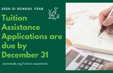 Tuition Assistance Applications are due 12/31