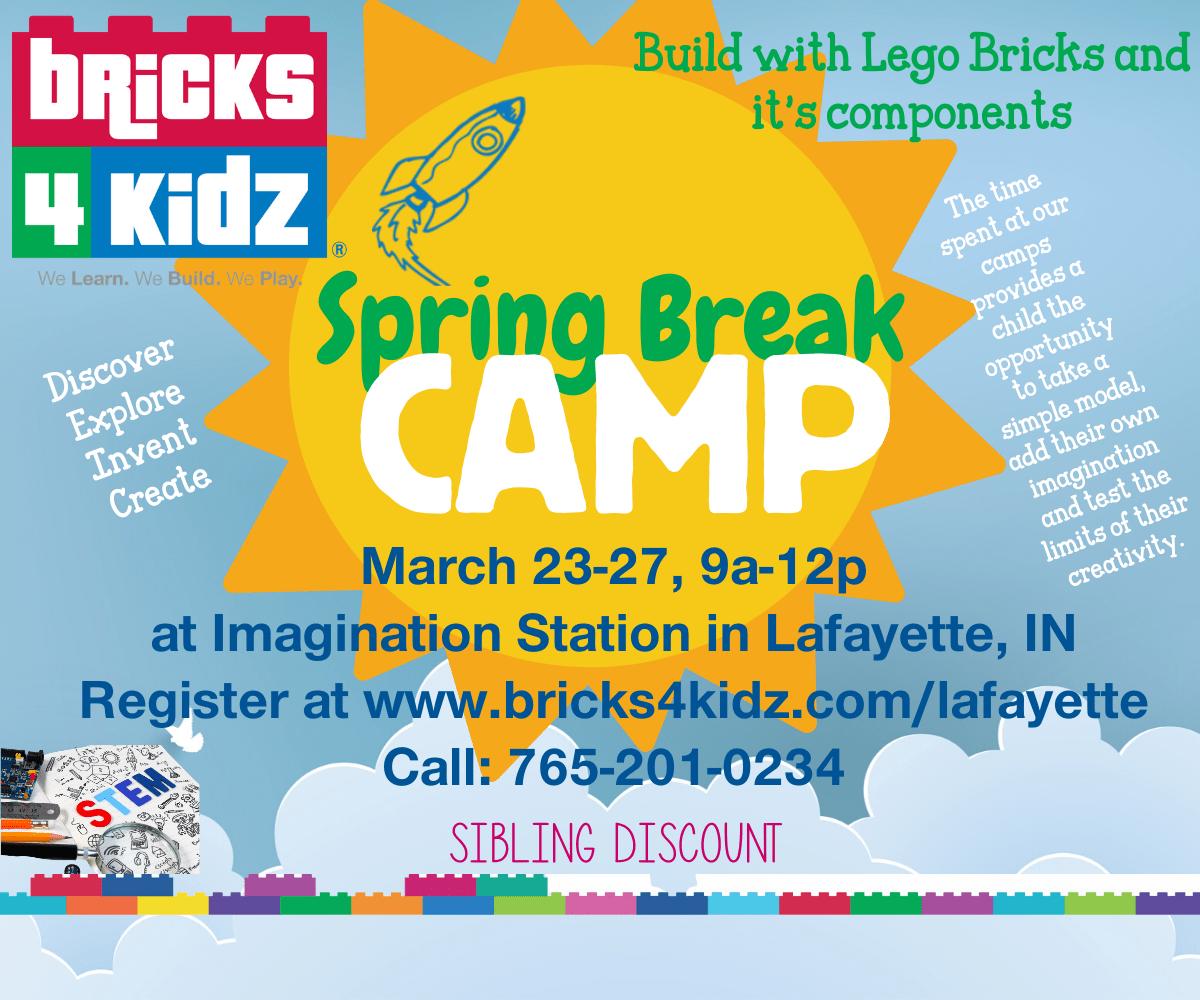 Information about Bricks 4 Kidz Spring Break Camp on March 23-27 at Imagination Station