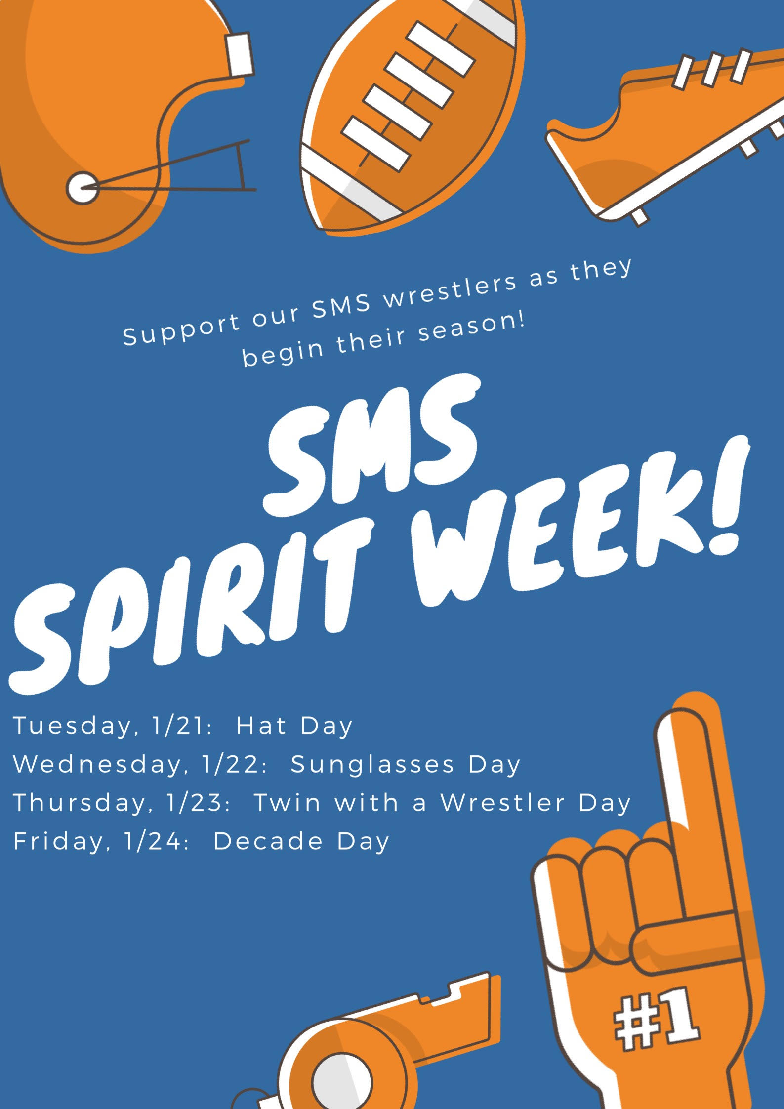 SMS Spirit Week Information supporting our Wrestlers