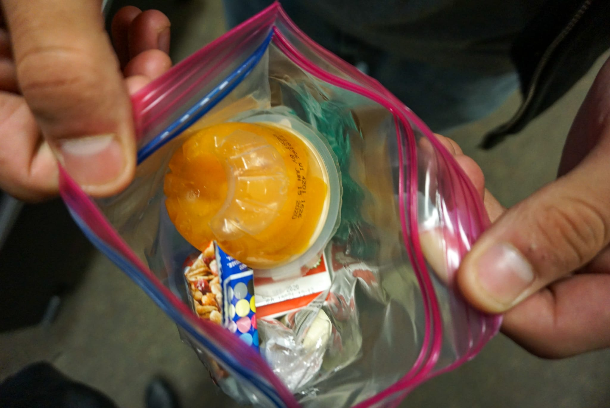 Breakfast items from the vending machine.
