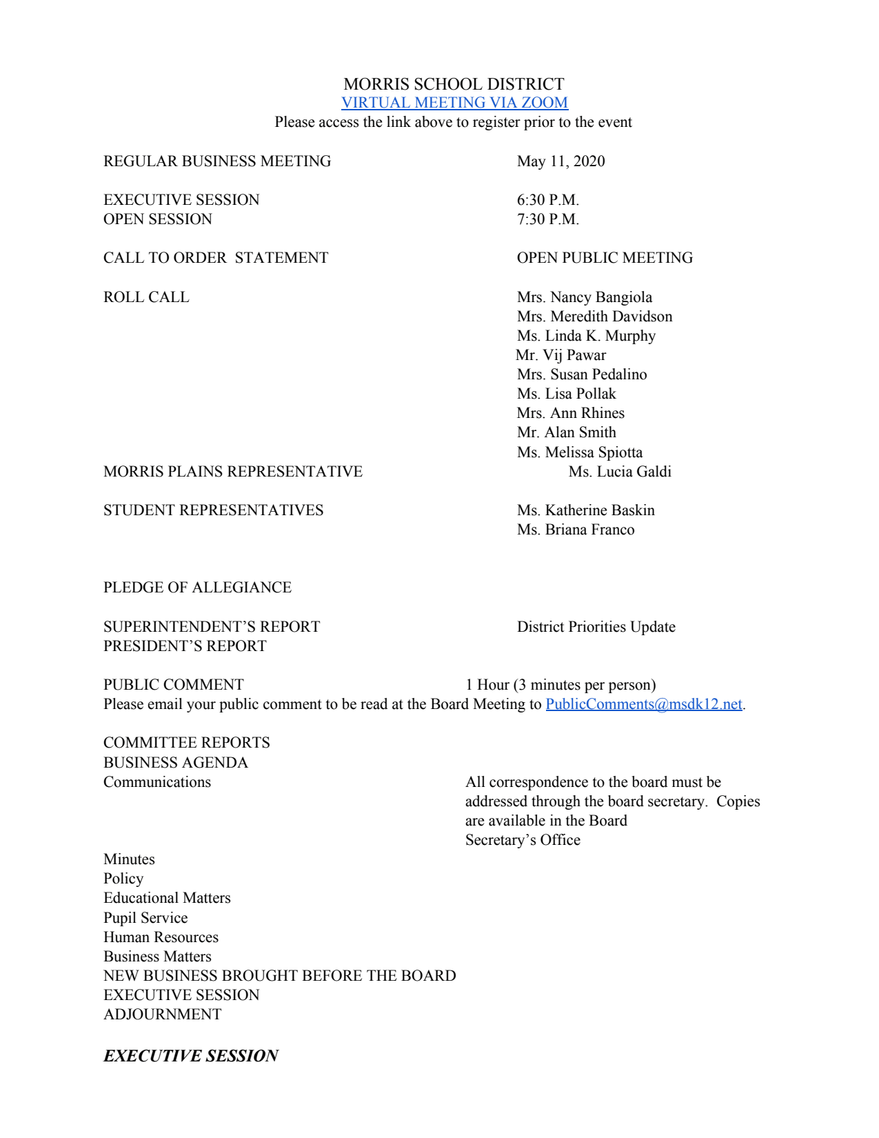 First page of the PDF file: 05_11_20Agenda