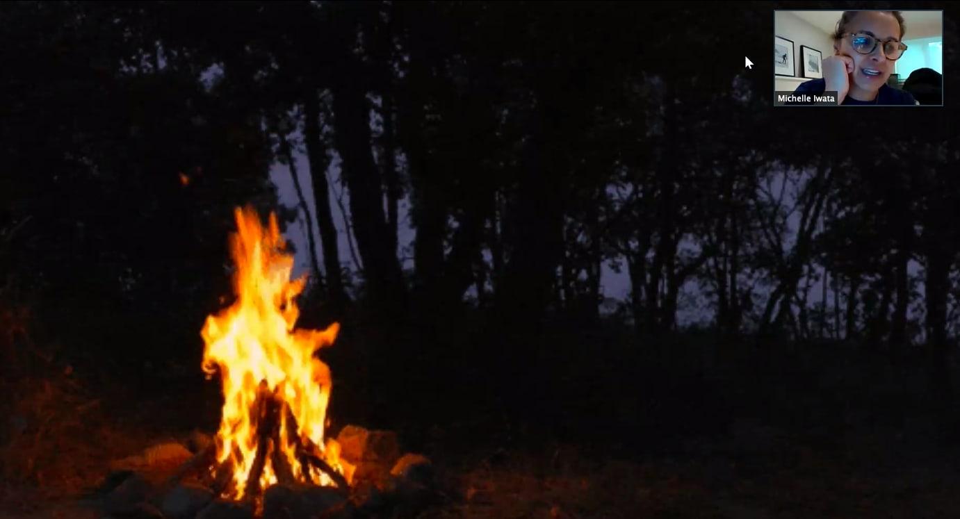 Virtual campfire with Michelle Iwata, grade 4 Branksome hall teacher