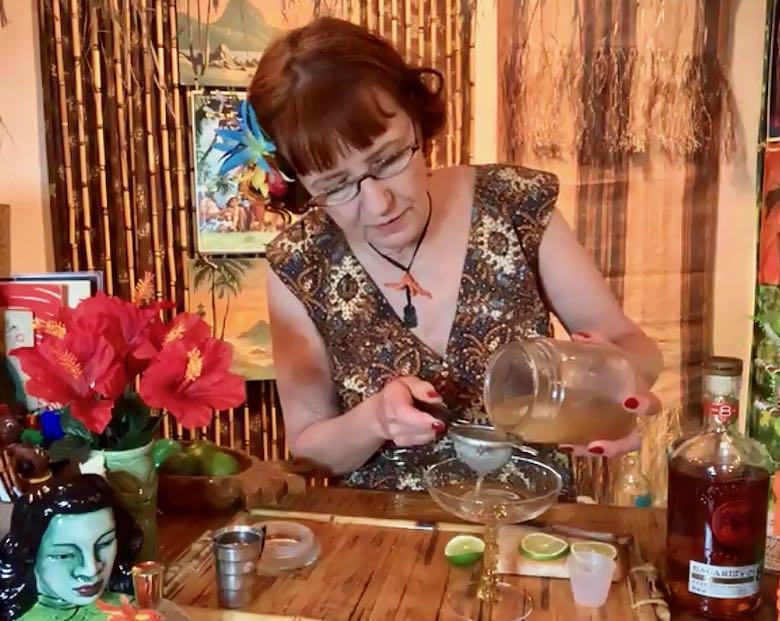 Helen Marshall and her daiquiri