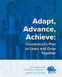 Adapt, Advance, Achieve State of Connecticut booklet cover