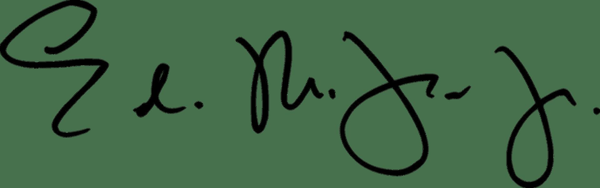 Dr. Trusty Signature