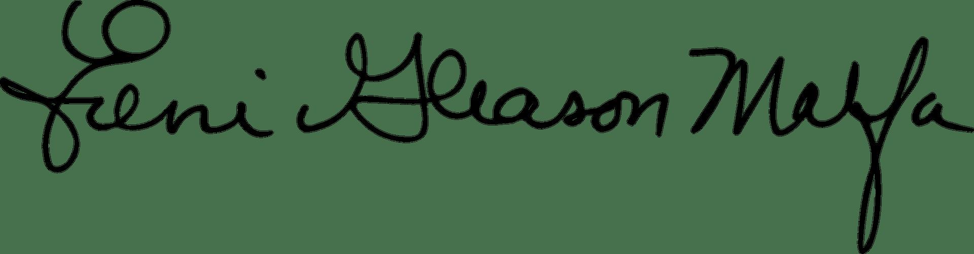 Ereni Gleason Malfa '89 Signature