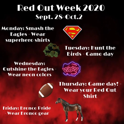 Red Out Dress Up Days