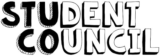 Black and White Graphic with ''Student Council'' written
