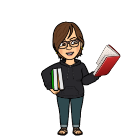 librarian holding books