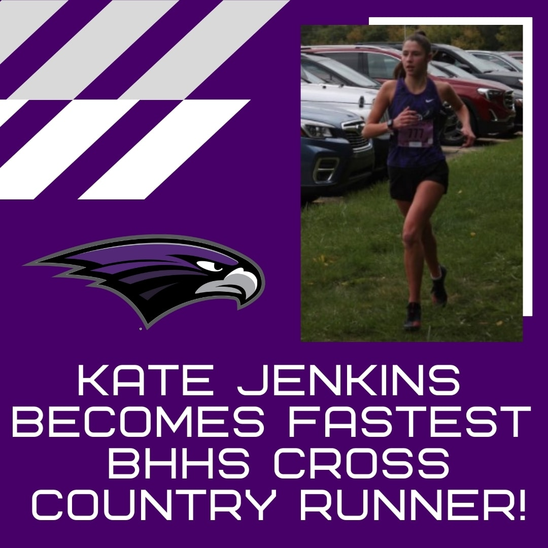Kate Jenkins Becomes Fastest BHHS Cross Country Runner