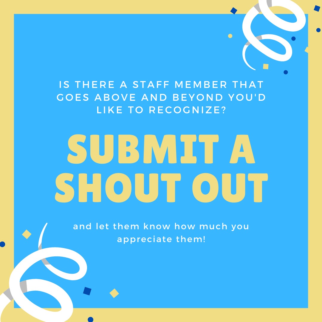 Submit a Staff Shout out