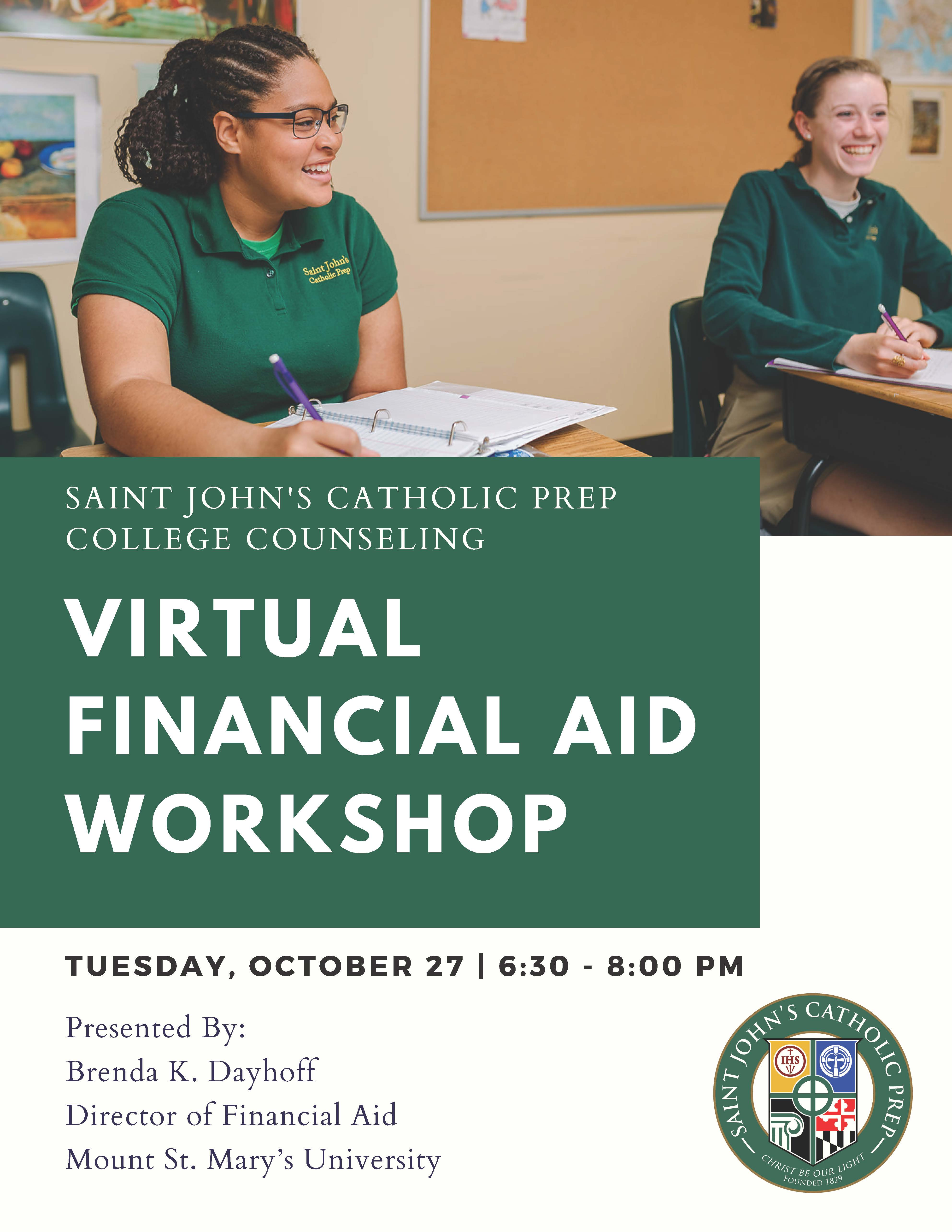 College Financial Aid Workshop October 27, 2020