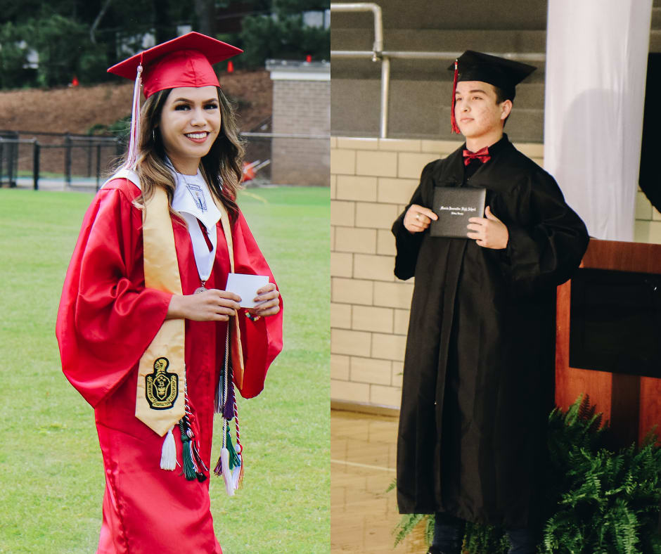 Two photos of graduates from DHS and MIHS