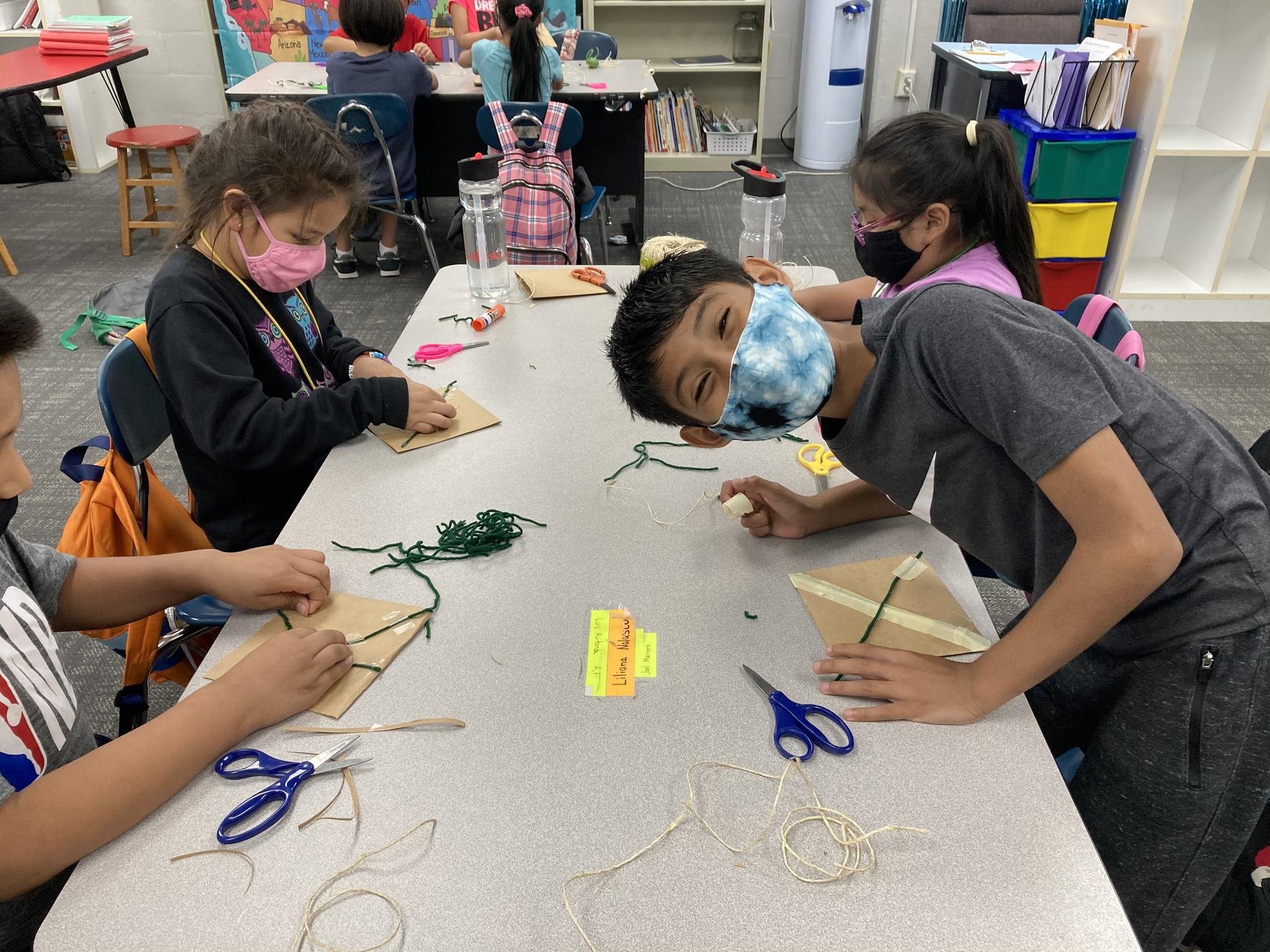 Students working on art in Kid City