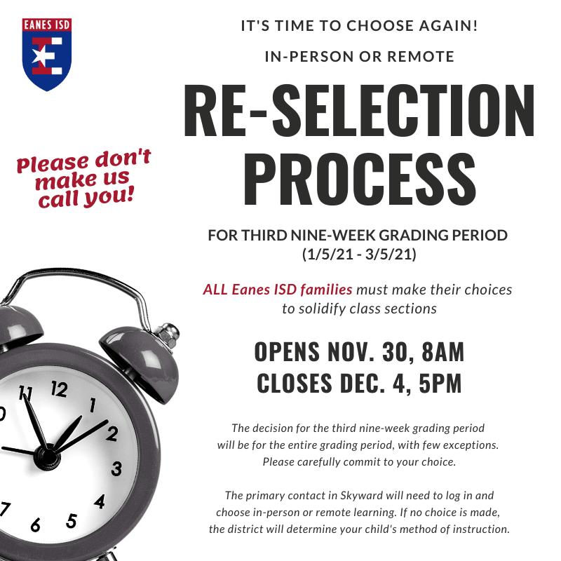 Re-Selection Process